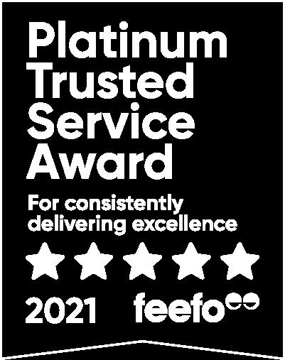 Feefo Platinum Trusted Service 2021